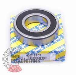 6207.EE [SNR] Deep groove sealed ball bearing