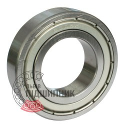 6000-2ZR [Kinex] Deep groove sealed ball bearing