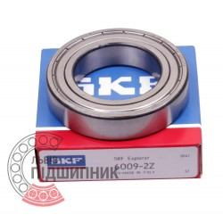 6009-2Z [SKF] Deep groove sealed ball bearing