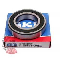 6211-2RS1 [SKF] Deep groove sealed ball bearing