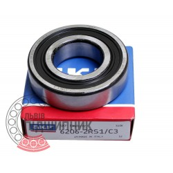 6206-2RS1/C3 [SKF] Deep groove sealed ball bearing