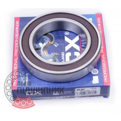 6014 2RS [CX] Deep groove sealed ball bearing