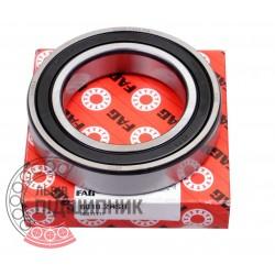 6010-2RSR [FAG Schaeffler] Deep groove sealed ball bearing