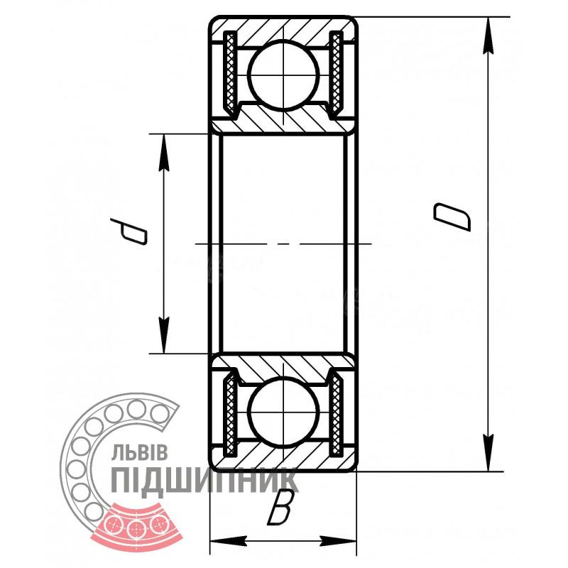 6211-2RS FAG C3 Single row deep groove ball bearing 55x100x21 mm 6211-2RS//C3