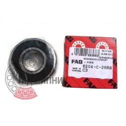 180204 | 6204-2RSR-C3 [FAG Schaeffler] Подшипник шариковый закрытый