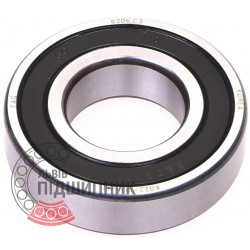 6206-2RSR-C3 [FAG Schaeffler] Deep groove sealed ball bearing
