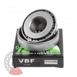 Подшипник роликовый конический 15101/15250 [VBF]
