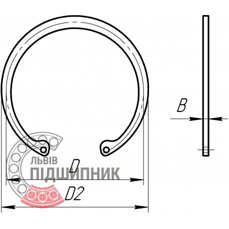 Внутрішнє стопорне кільце під отвір 125 мм