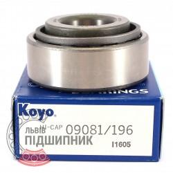09081/09196 [Koyo] Конічний роликовий підшипник