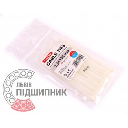 Plastic clamp 2,5х150, white (100 pcs.)