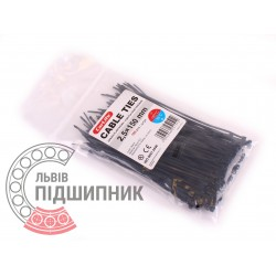 Plastic clamp 2,5х150, black (100 pcs.)