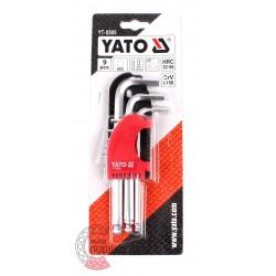 Key set Cr-V YT-0505 9 pcs. (1,5-10mm) [YATO]
