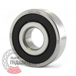 6303-2RS [ZVL] Deep groove ball bearing