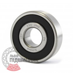 6302-2RS [ZVL] Deep groove ball bearing