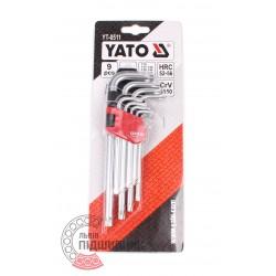 Key set 9 pcs. Torx Т10-Т50  [Yato]
