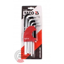 Key set  YT-0508 9 pcs. (2-12mm)  [YATO]