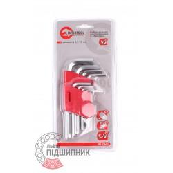 Key set Inter HT-0601, 9 pcs. (1,5-10mm) [InterTool]