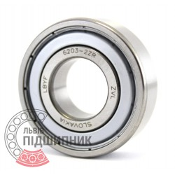 6203-2ZR [ZVL] Deep groove ball bearing