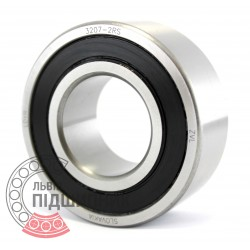 3207-2RS [ZVL] Angular contact ball bearing