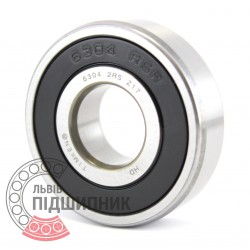 6304 2RS [Timken] Deep groove ball bearing
