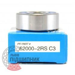 62000-2RS C3 [PFI] Пiдшипник кульковий