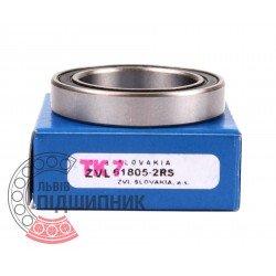 1000805 (61805-2RS) [[ZVL] Пiдшипник кульковий