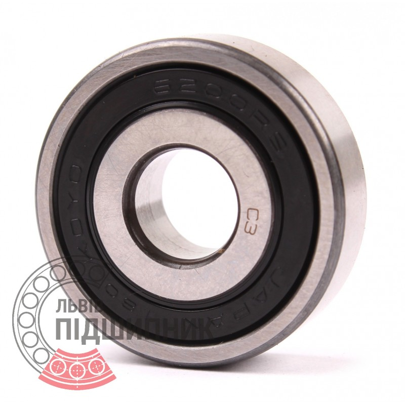 6200 Bearing Deep Groove 6200 Ball Bearings Radial Metric Standard 10mm Bore