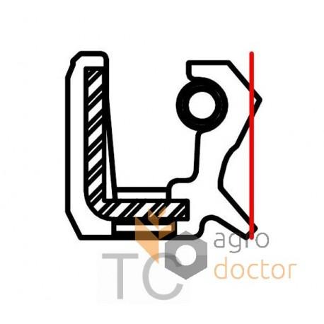 Oil seal 45x62x8 TC