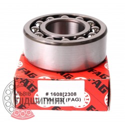 2308-TVH-С3 [FAG Schaeffler] Double row self-aligning ball bearing