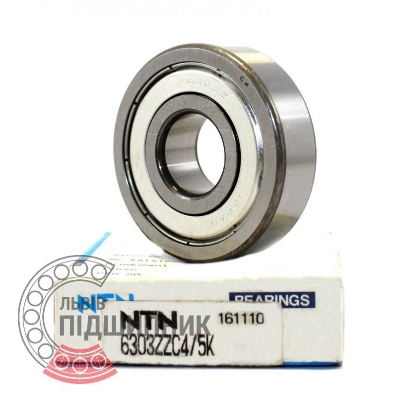 ZZ 17X47X14 mm Metal Shielded Bearing NTN 6303