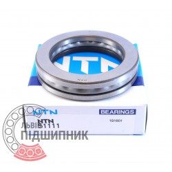 8111 (51111) [NTN] Опорний кульковий пiдшипник