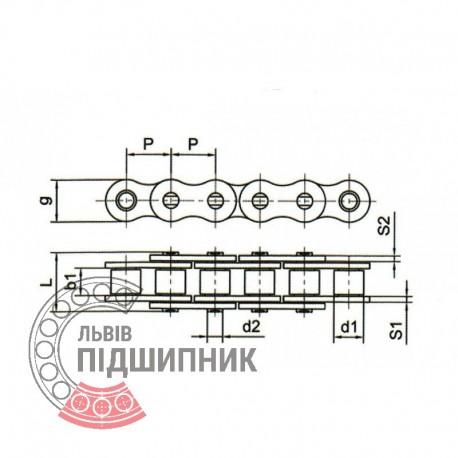 12A-1 Цепь роликовая (ПР-19.05) [CPR]
