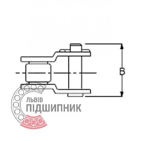 16B-1  Звено цепи переходное (ПР-25.4 мм)