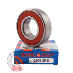 180205 / 6205 2RS ENC 250*C [BRL] Високотемпературний кульковий підшипник