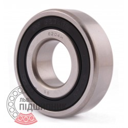 6204.H-2RS [EZO] Deep groove ball bearing, stainless steel