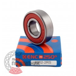 6202 ENC 2RS 250°C [BRL] Deep groove ball bearing for high temperature
