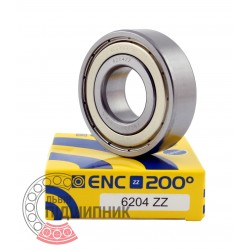 6204 ZZ ENC 200° [BRL] Deep groove ball temperature bearing