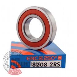 180208 / 6208 ENC 2RS 250°C) [BRL] Високотемпературний кульковий підшипник