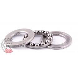 8104 (51104S) Опорний кульковий пiдшипник, нержавіюча сталь