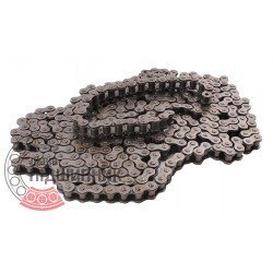 08A-1 [Dunlop] Simplex steel roller chain (pitch- 12.7mm)