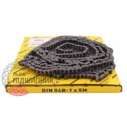 04B-1 [Dunlop] Simplex steel roller chain (pitch- 6mm)