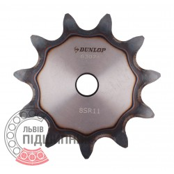 Plain bore roller chain sprocket 16B-1 - pitch 25.4mm, 11 Teath [Dunlop]