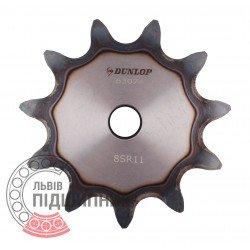 Plain bore roller chain sprocket 16B-1 - pitch 25.4mm, 11 Teath [Dunlop]