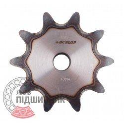 Plain bore roller chain sprocket 16B-1 - pitch 25.4mm, 10 Teath [Dunlop]