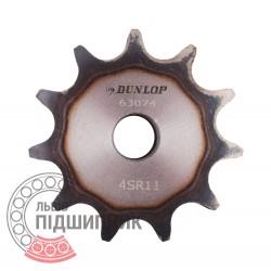 Звездочка приводная 08B-1 под роликовую цепь - шаг 12.7мм, Z - 11 [Dunlop]