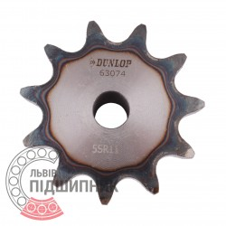 Plain bore roller chain sprocket 10B-1 - pitch 15.875mm, 11 Teath [Dunlop]