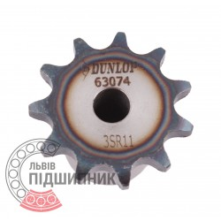 Plain bore roller chain sprocket 06B-1 - pitch 9.525mm, 11 Teath [Dunlop]