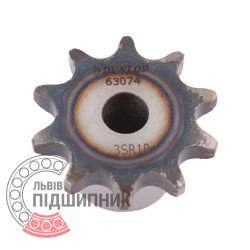 Plain bore roller chain sprocket 06B-1 - pitch 9.525mm, 10 Teath [Dunlop]