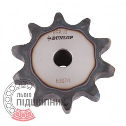 Plain bore roller chain sprocket 12B-1 - pitch 19.05mm, 10 Teath [Dunlop]