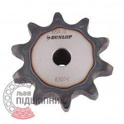 Plain bore roller chain sprocket 12B-1 - pitch 19.05mm, 10 Teath [Dunlop]